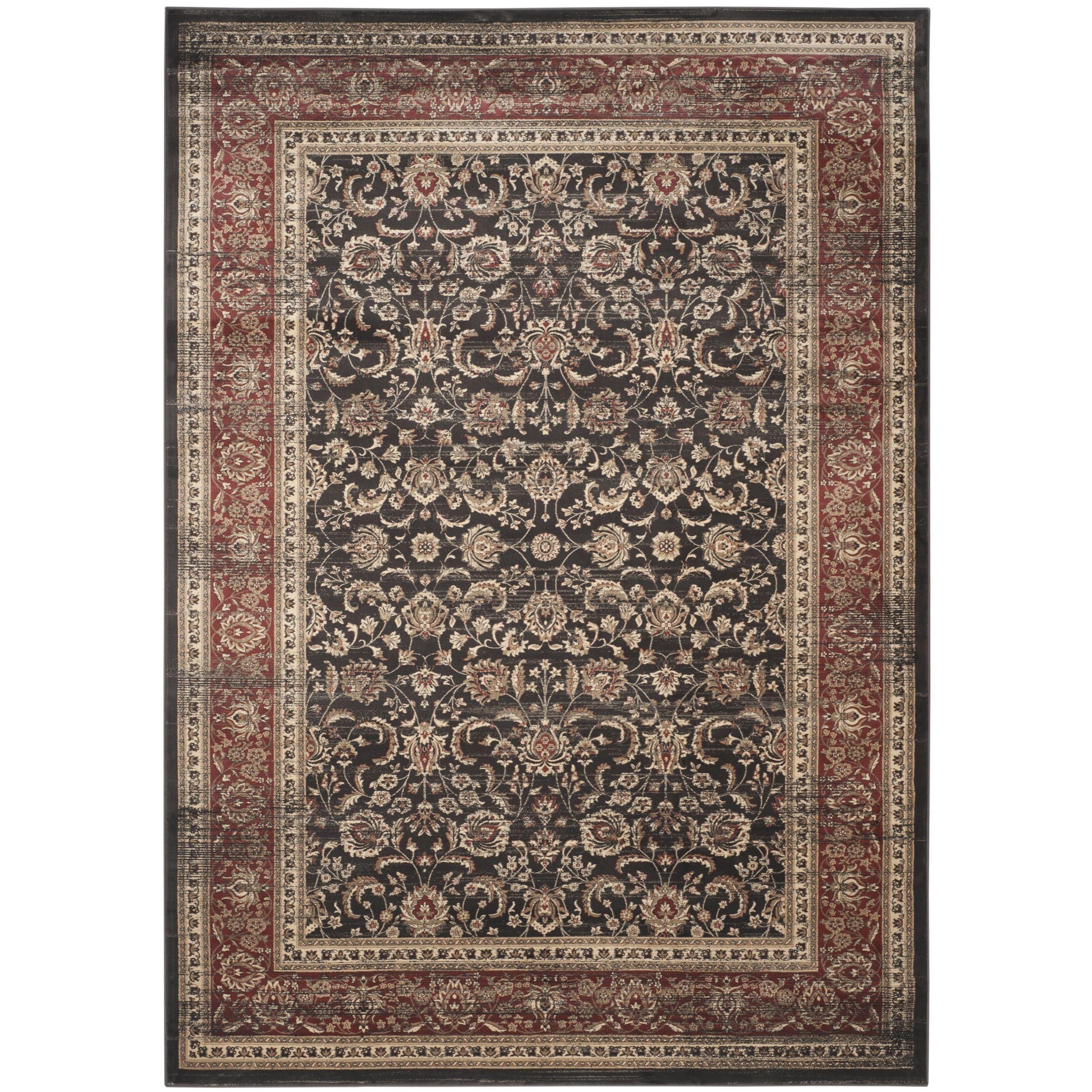 Safavieh vintage oriental black rust distressed rug u x u by