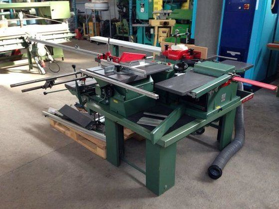 Used 1991 Kity Direct Drive 5 Trade Combi Machine Table