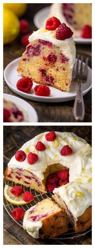 Lemon Raspberry Bundt Cake Moist and fluffy Perfect for or or any Spring celebration