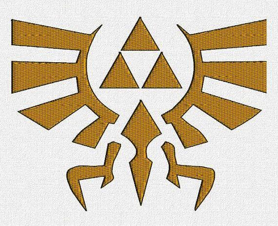 Zelda Triforce Eagle Symbol machine by iStitchEmbroidery on Etsy