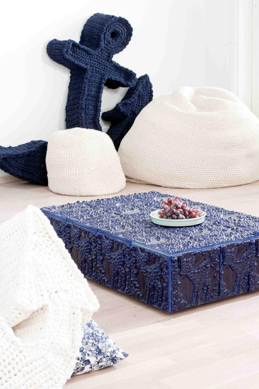 Sohvapöytä mosaiikista (lasinpalaset + koristesavimassa'9