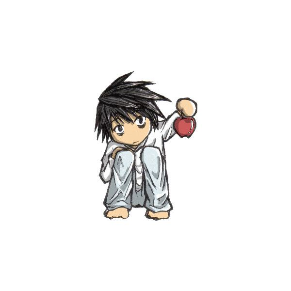 Death Note L Chibi Pomme ❤ liked on Polyvore