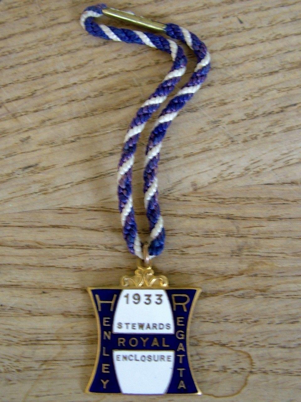Henley Regatta Tickets >> 1933 Royal Henley Regatta Stewards Enclosure Badge Ticket Pass