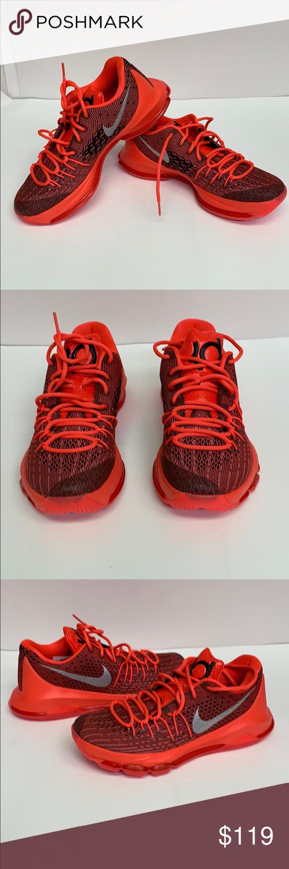 cd24c5b8a9f Nike Men s KD Size 8 Basketball Shoes Nike Men s KD 8 Bright Crimson White