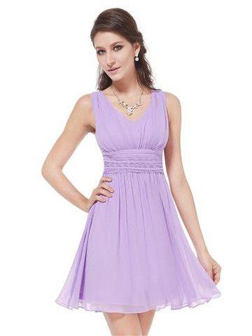 c1af9a847289a vestidos-cortos-elegantes-para-fiestas-color-lila.jpe (360×480 ...
