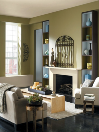 Lemon Verbena Sw 7726 Adds Warmth To This Cozy Living