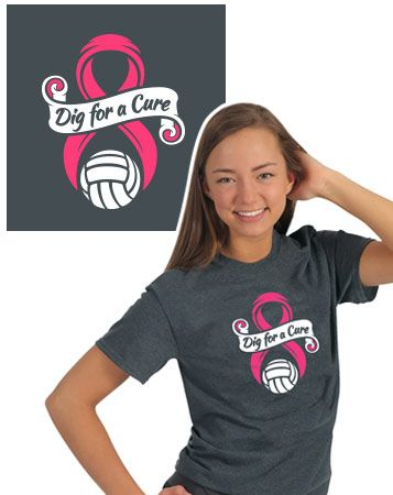 4b49e641 Do you have a Dig Pink day in your next tournament? Here's our latest t-shirt  design to show your pink spirit!