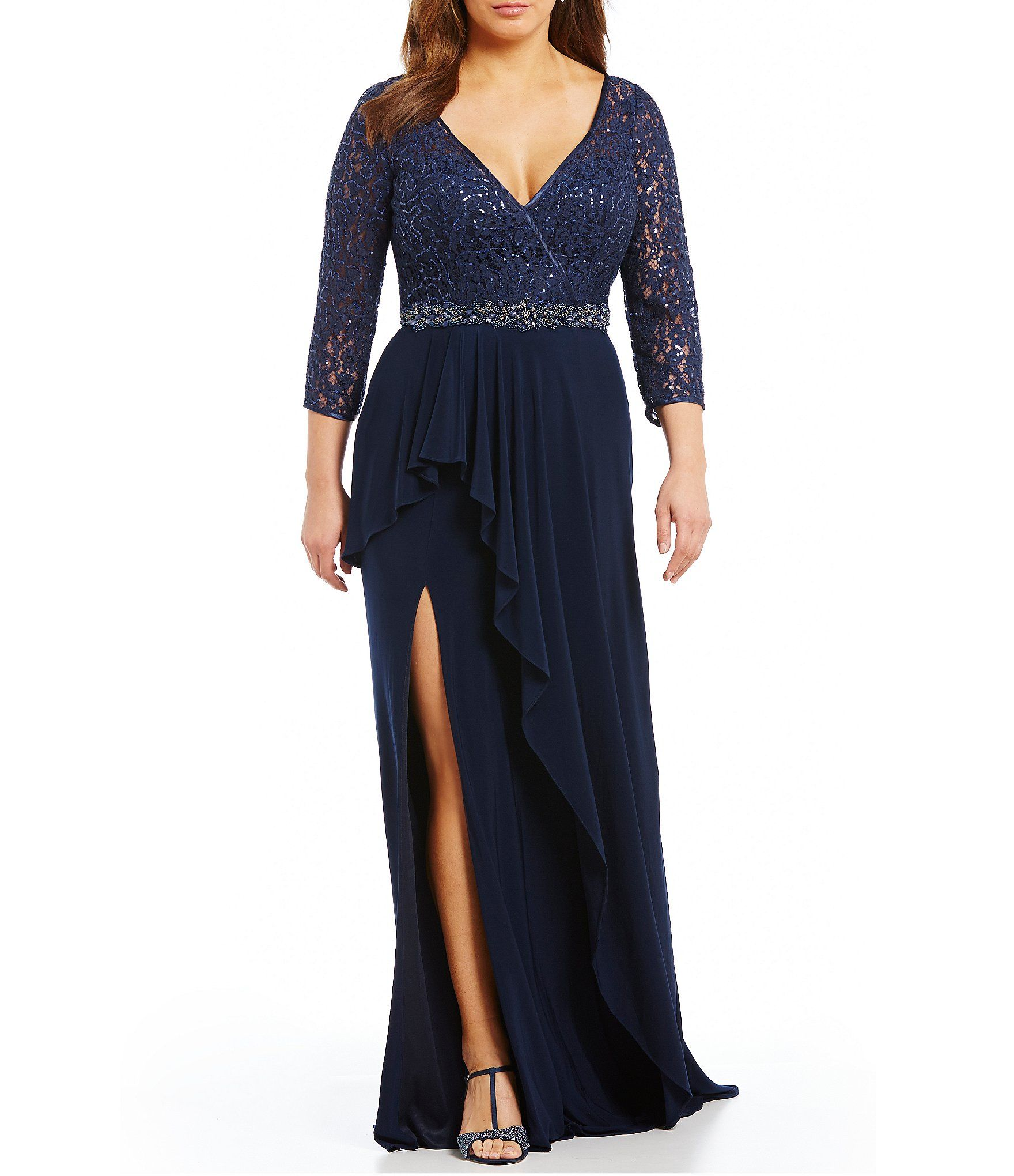 Shop for Glamour by Terani Couture Plus Sequin Lace Gown at Dillards.com.  Visit Dillards.com to find clothing 7fbb09e9de88