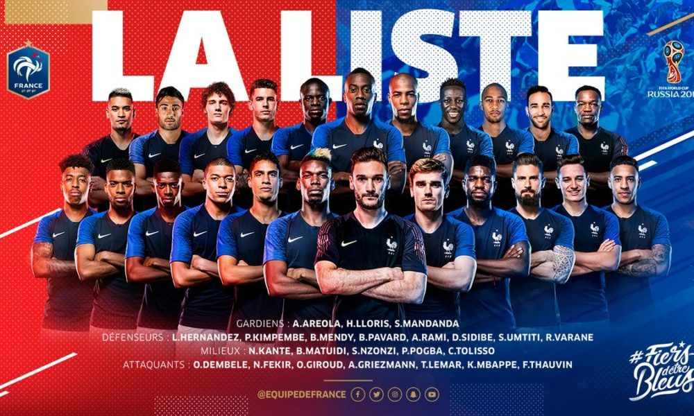Fifa World Cup 2018 France Final Squad Revealed Equipe De France Coupe Du Monde 2018 Pogba Griezmann