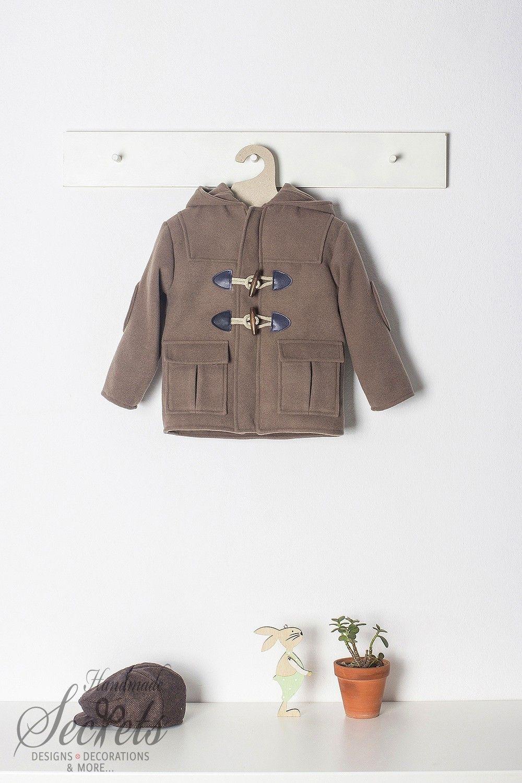 30417ac627b Καφέ παλτό μοντγκόμερι για αγόρια της Bambolino, annassecret, Χειροποιητες  μπομπονιερες γαμου, Χειροποιητες μπομπονιερες