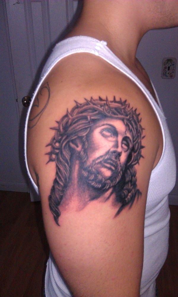 jesus on cross tattoos for men jesus arm tattoo 30 cool