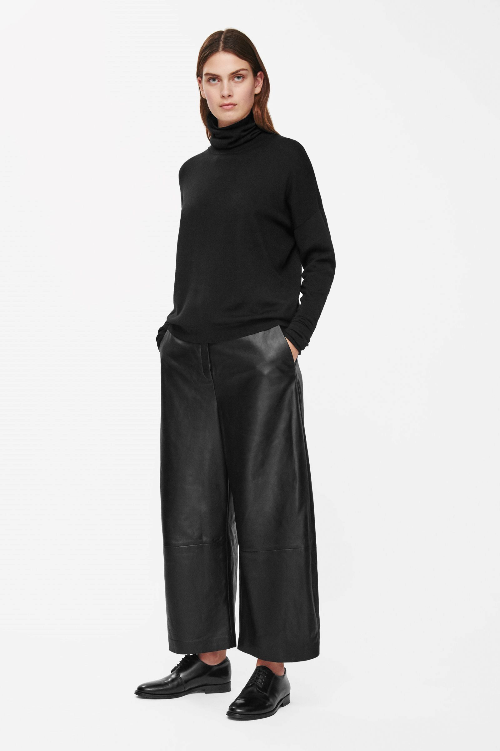 94ee9faa4a02 COS Wide-leg leather trousers | Lookbooks in 2019 | Leather trousers ...