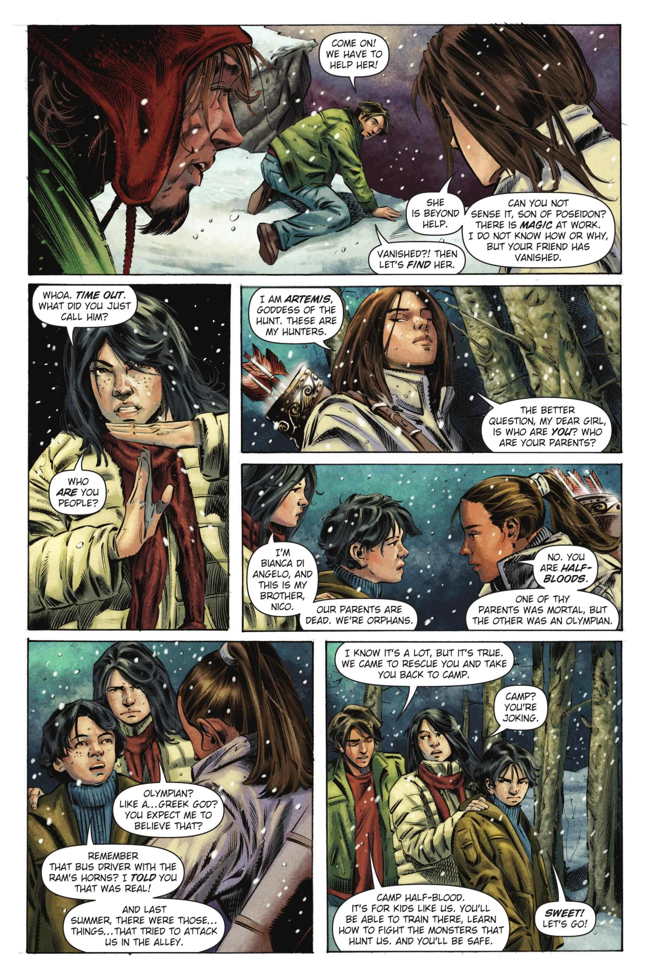 The Titan's Curse graphic novel. Meeting Bianca and Nico ...
