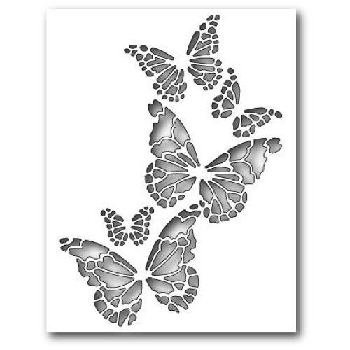 Memory Box Die - Reverse Butterfly Collage stencils Pinterest
