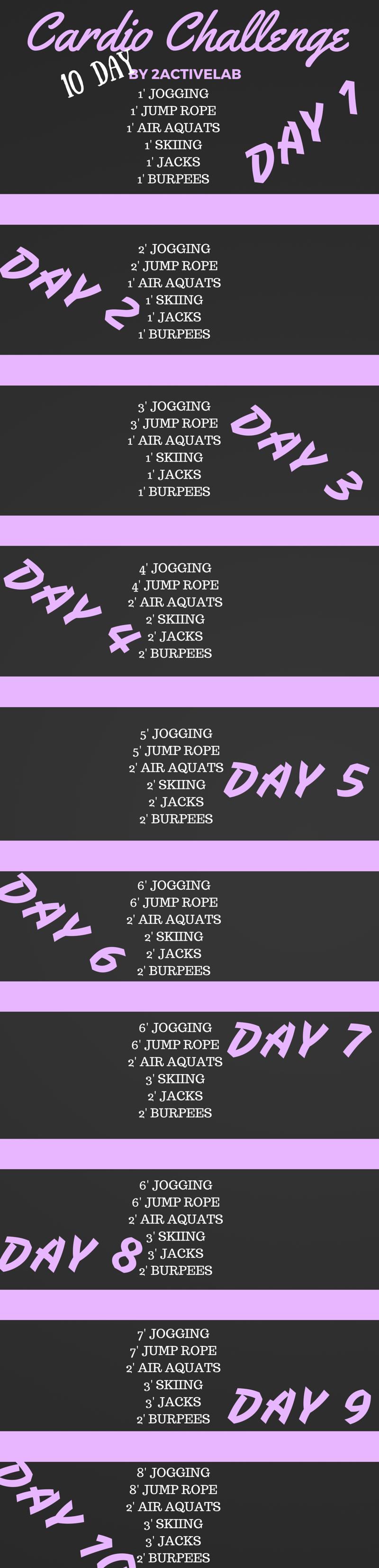 10 Cardio Challenge BY 2ACTIVELAB #workout #cardio #challenge #train #training #trainhard #loseweight #lose #weight #weightloss (1)