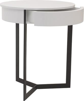 Modern Round Bedside Table Contemporary Austin Black Or White