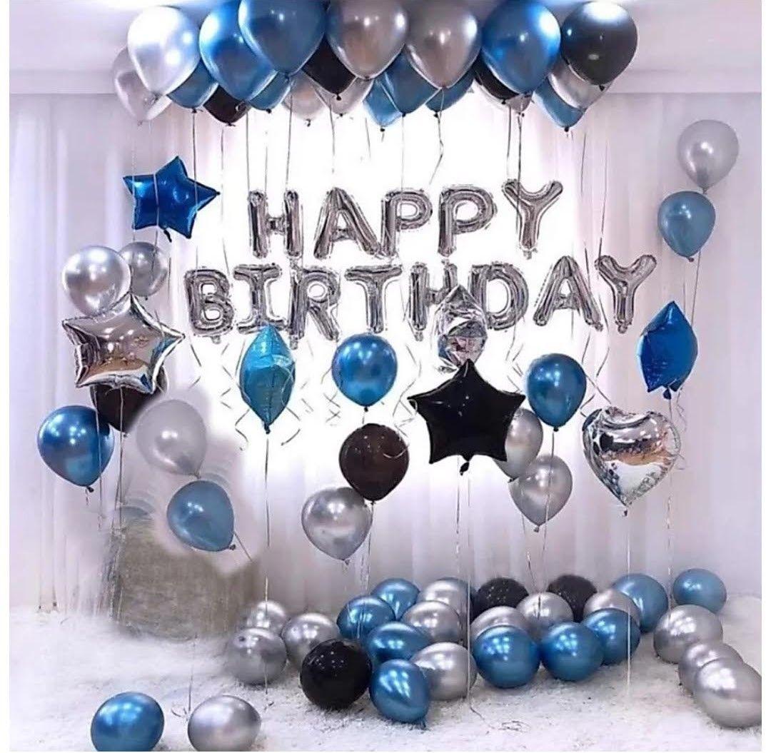 Pin De Aarifa Hoosein En Decoracion Cumpleaños Decoraciones De Fiesta Azul Decoraciones De Cumpleaños Para Hombres Diseño De Cumpleaños
