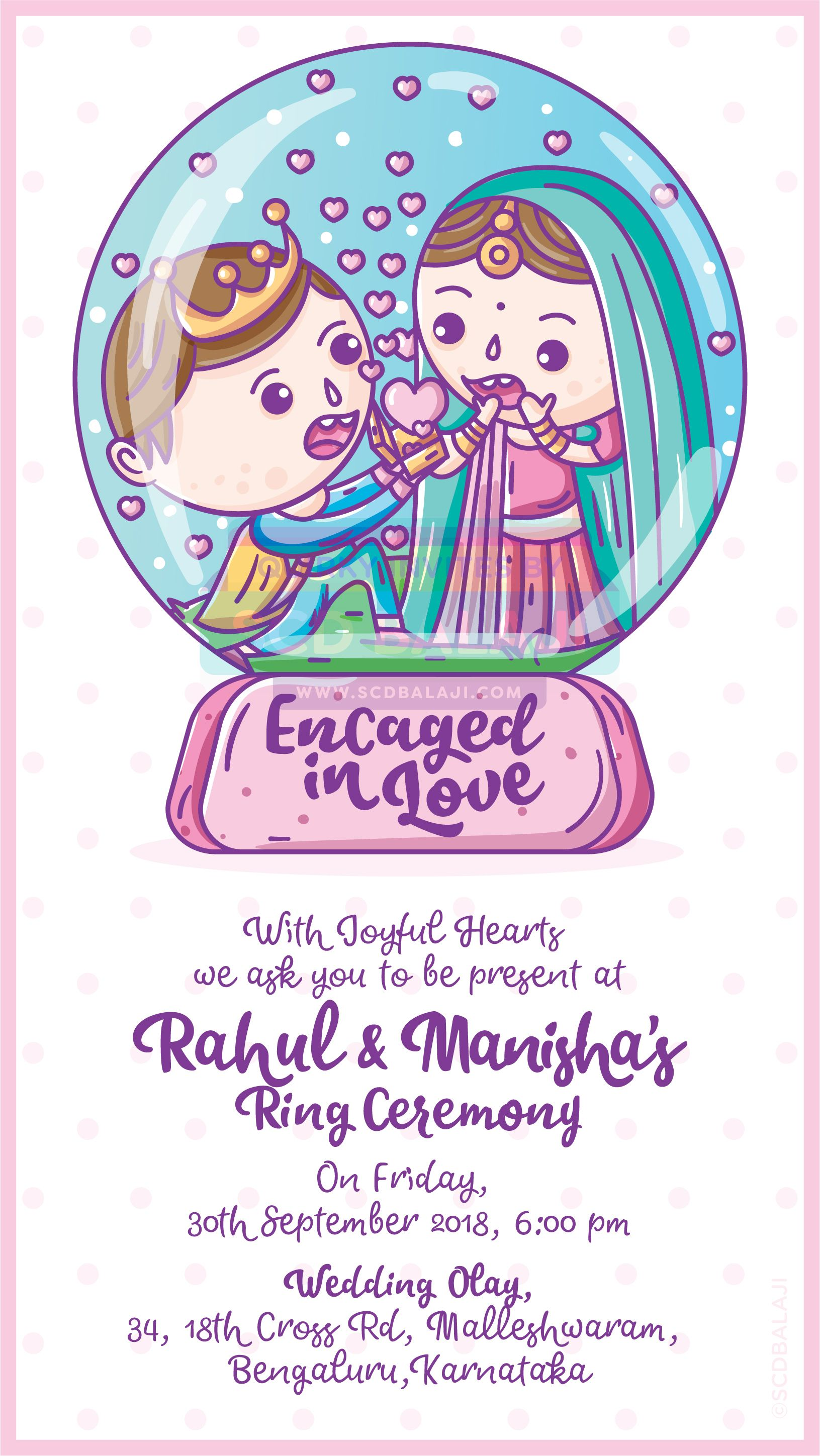 Indian Wedding Engagement (Ring Ceremony) einvitation / einvite ...