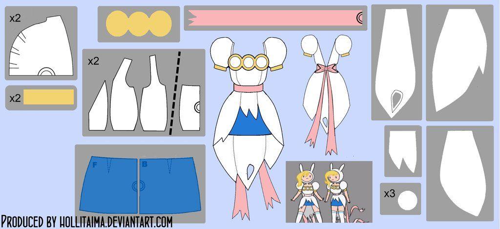 Fionna Ripped Cosplay Dress Pattern Draft by Hollitaima.deviantart ...