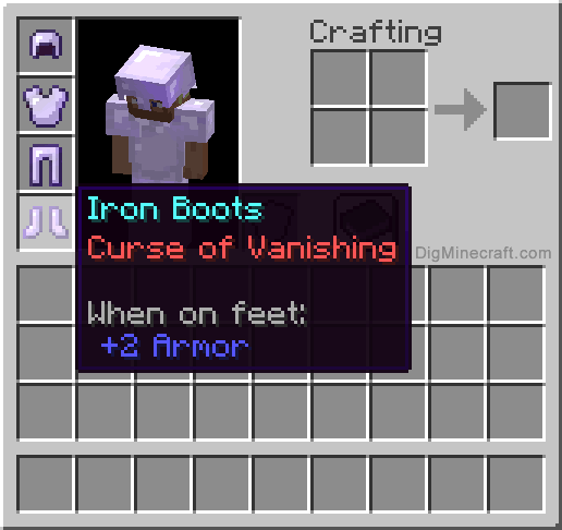 Curse of Vanishing enchantment in Minecraft lets you curse