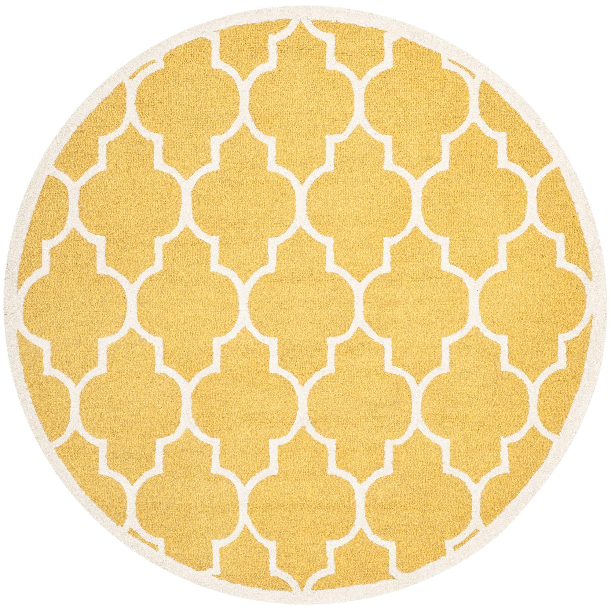 Parker Lane Hand-Tufted Gold / Ivory Area Rug