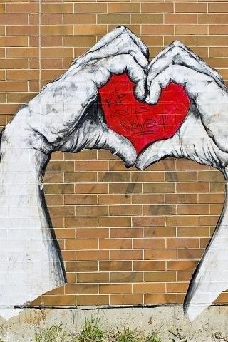 London Heart graffiti.