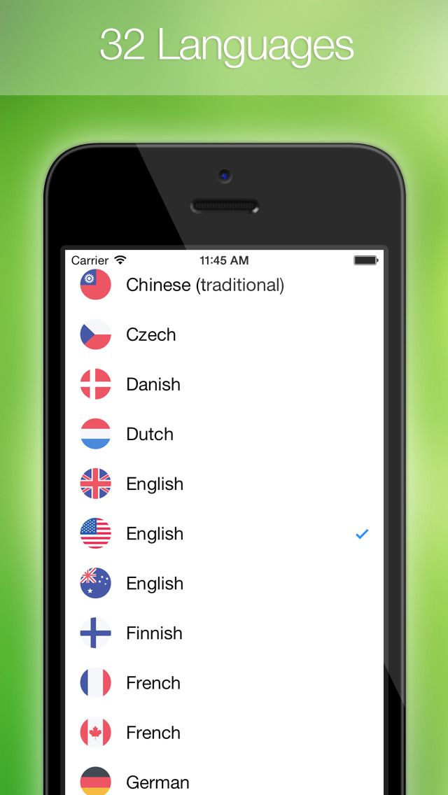 iPhone App Easy Translation Easily translate text or