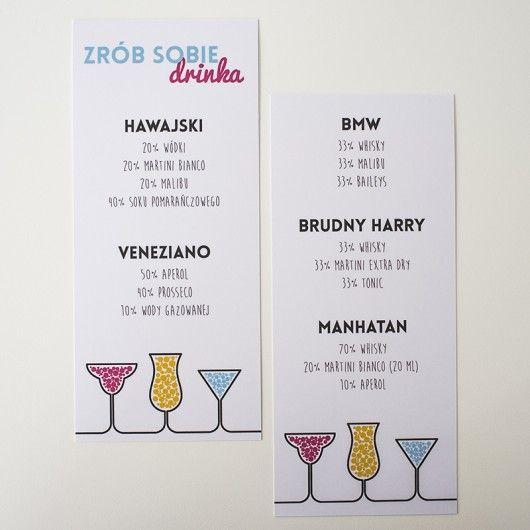 Menu Zrób To Sam Diy Na Wesele I Inne Imprezy Pakamera Pl Wedding Bar Wedding Favors Cheap Polaroid Guest Book