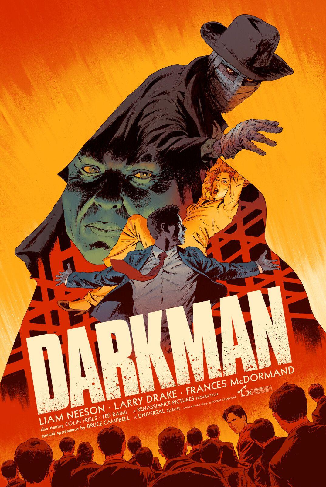 Darkman Screen Print Poster, Robert Sammelin on