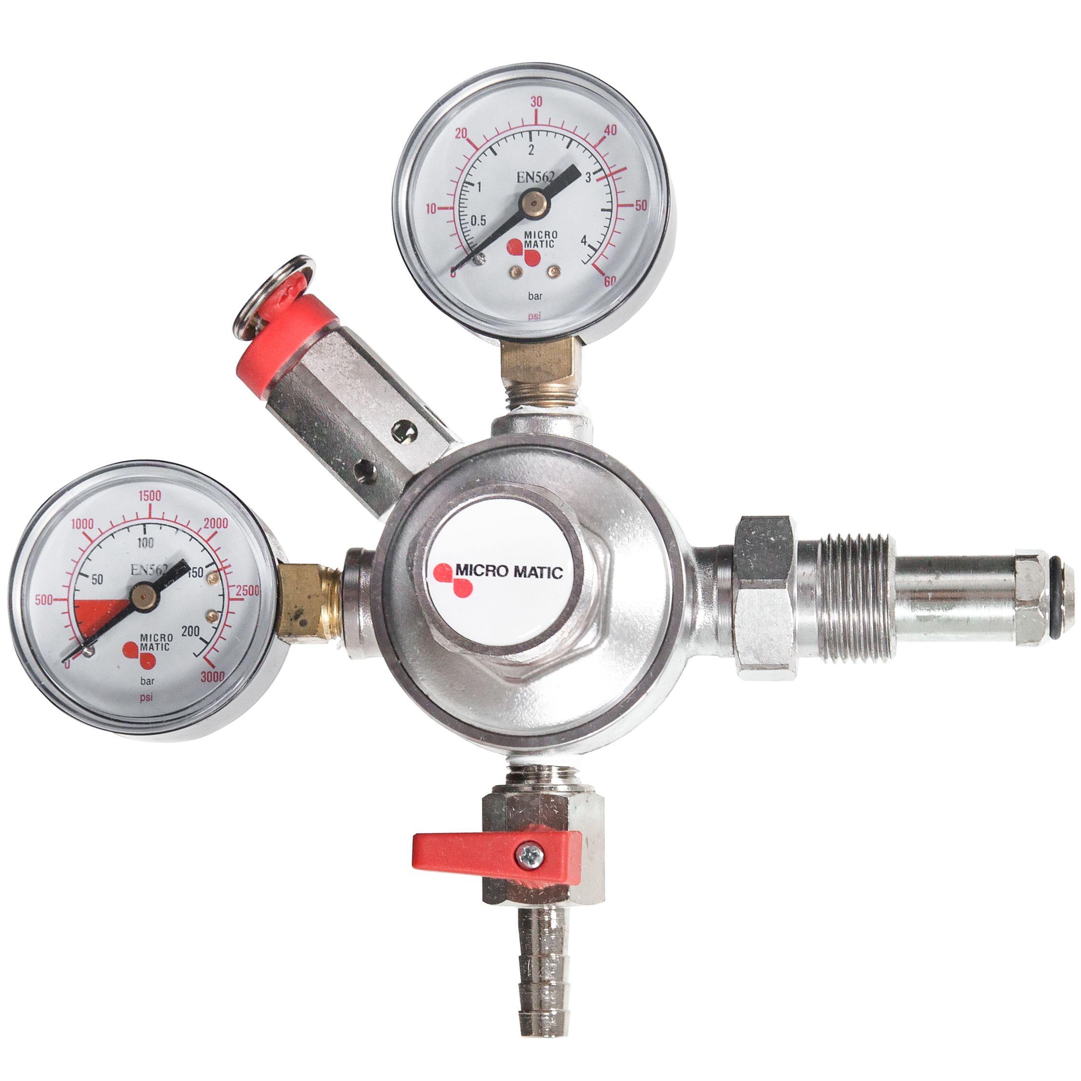 Premium series double gauge nitrogen regulator products