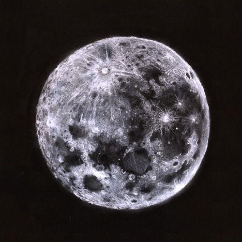8b332f35c64370077a8b7275969d0872 » Pencil Realistic Moon Drawing