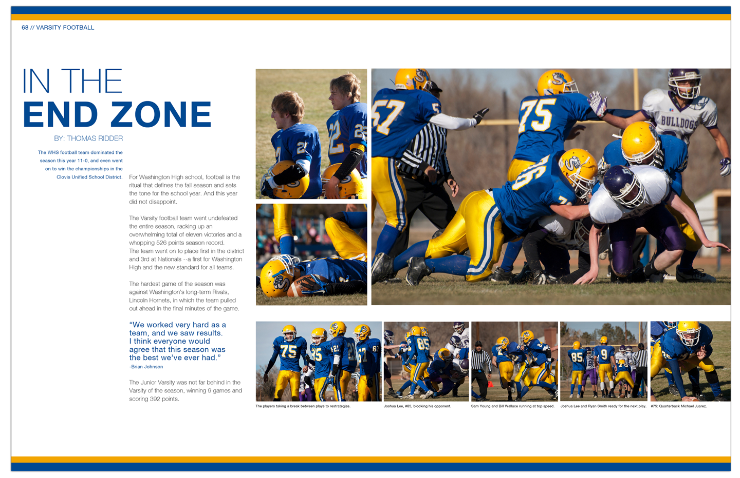 Example Of The Page Spread Of The Championship Football Season