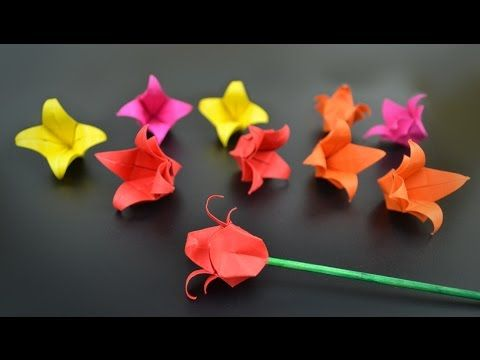 Origami Flower Tulip Instructions In English Br Youtube