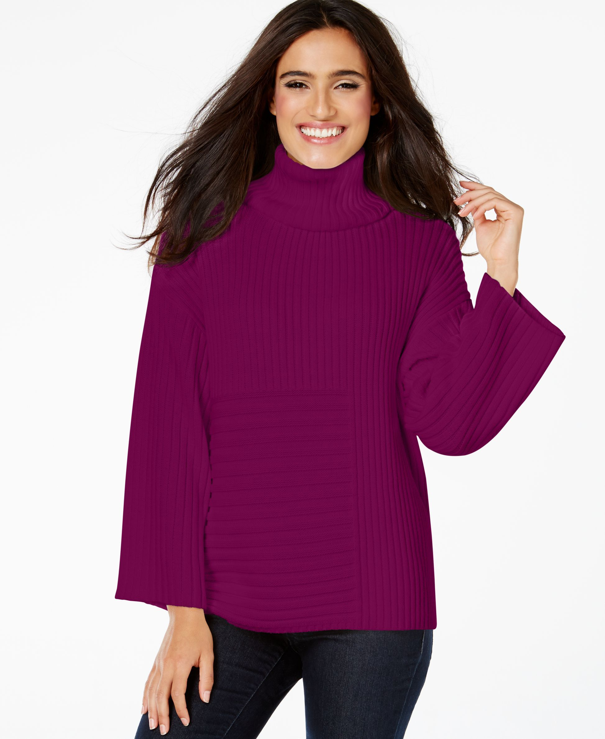 e6b0ff1f480 Vince Camuto Ribbed Turtleneck Sweater