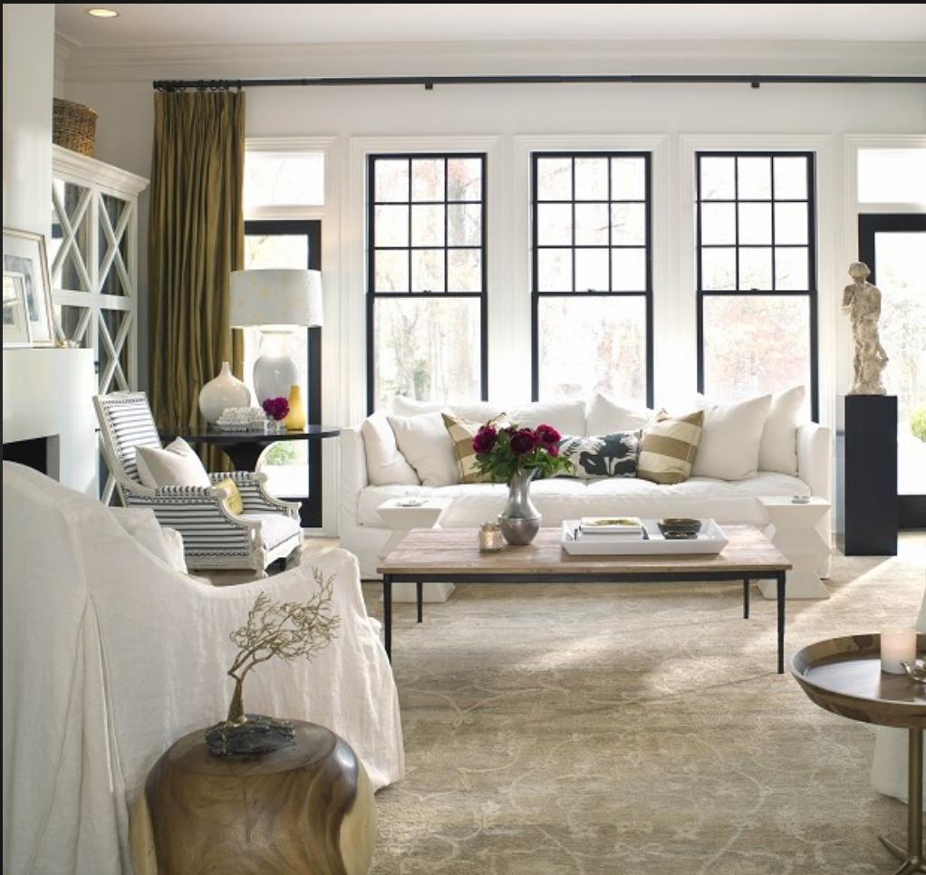 Black Casement Windows House Beautiful Living Rooms Living Room Windows Living Room White