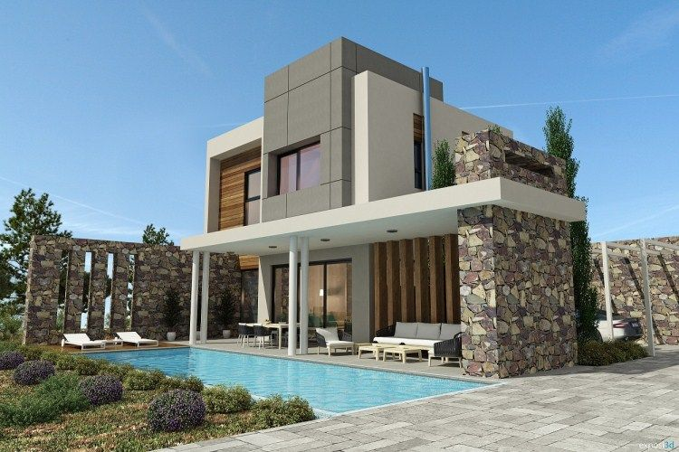 Modern stylish latest homes exterior designs Cyprus Minimal House