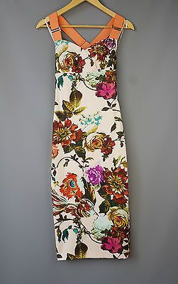 f3348c5a0d963a Ted Baker Amabel dress wiggle bodycon Mid Summer floral print Size 3 UK 12