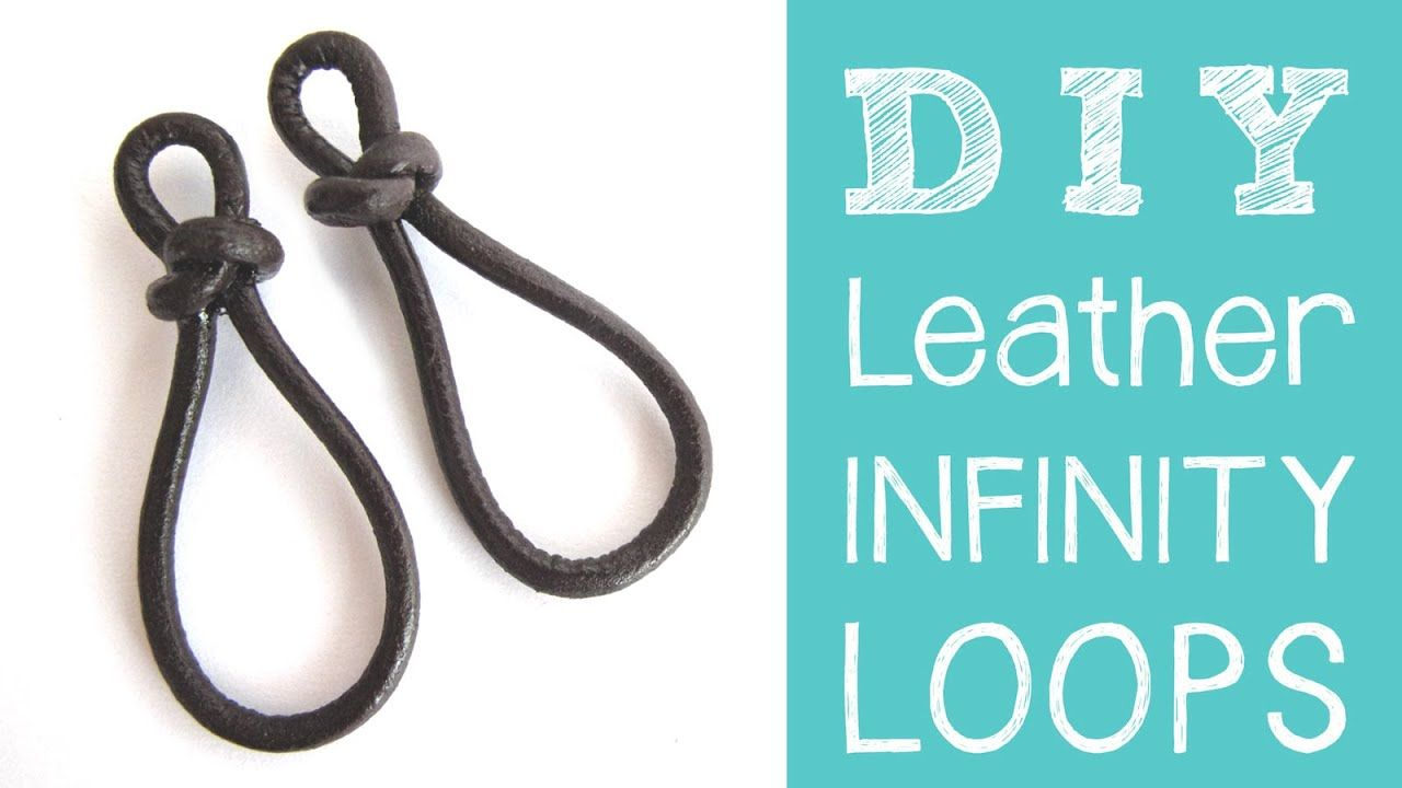 Photo of Leather Jewelry Tutorial – DIY Leather Infinity Loops / Figure 8 Links