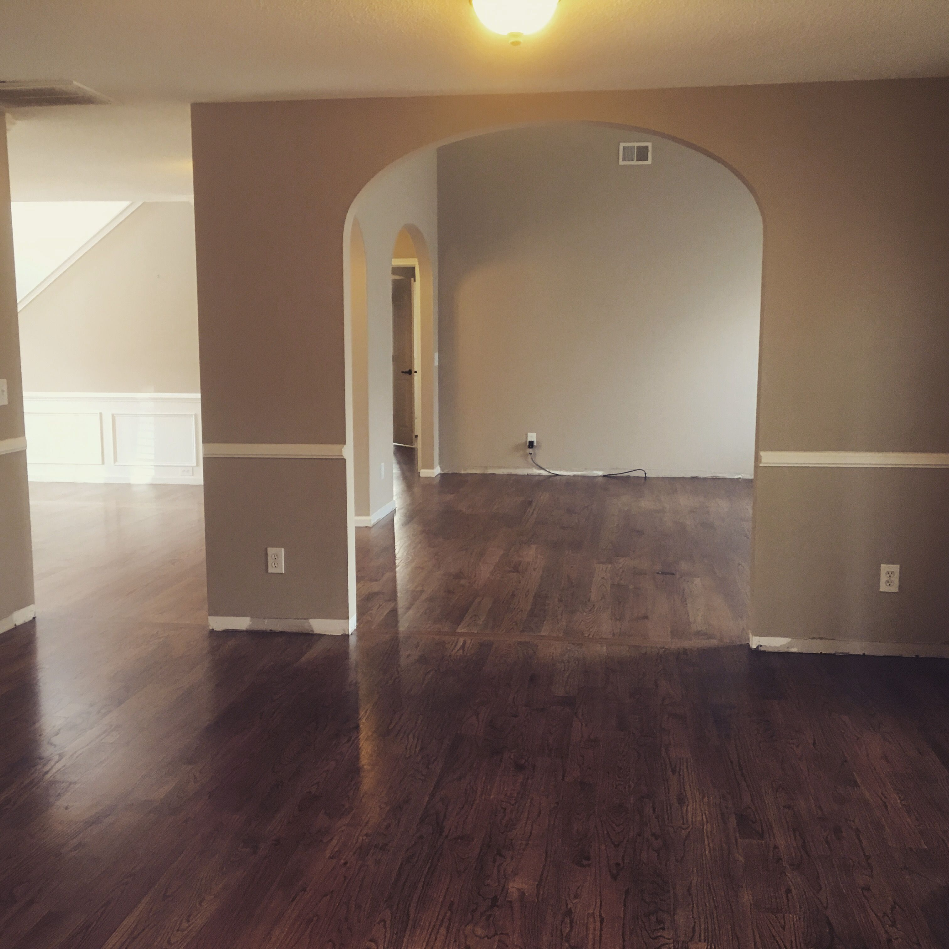 Special Walnut Stained Floor