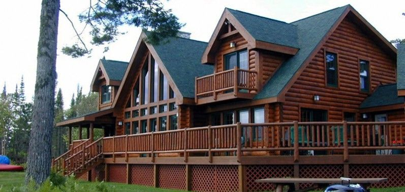 luxury log cabin open floor plan Yahoo Image Search Results