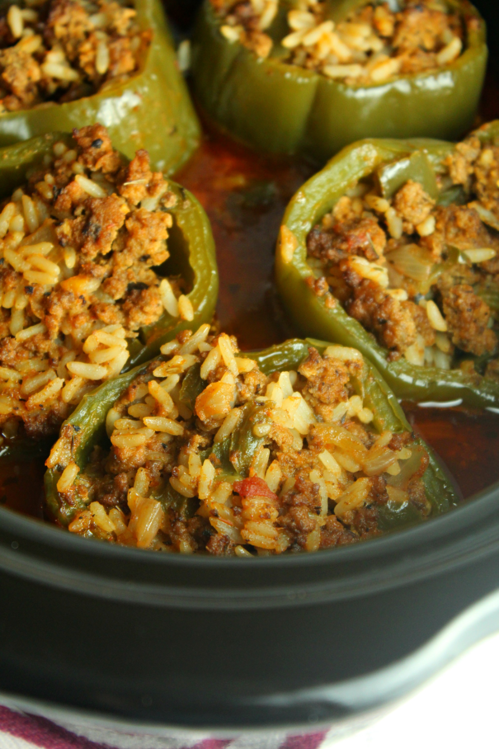 Slow Cooker Stuffed Peppers Recipe In 2020 Slow Cooker Stuffed Peppers Stuffed Peppers Crockpot Stuffed Peppers