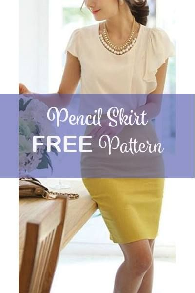 Free Pencil Skirt Pattern | My Favourites | Pinterest | Nähen ...