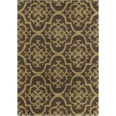 Chandra INT Hand Tufted Rectangle Contemporary Tan/Brown Area Rug Rug Size: