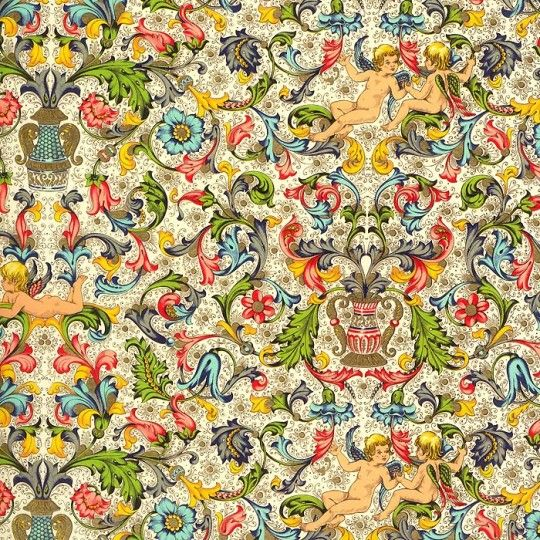 Cherub Traditional Florentine Print Paper ~ Rossi Italy