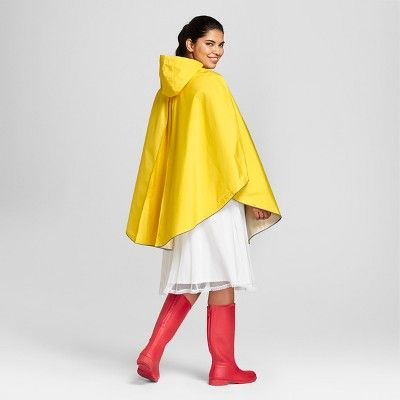 Hunter for Target Adult Waterproof Packable Poncho - Yellow