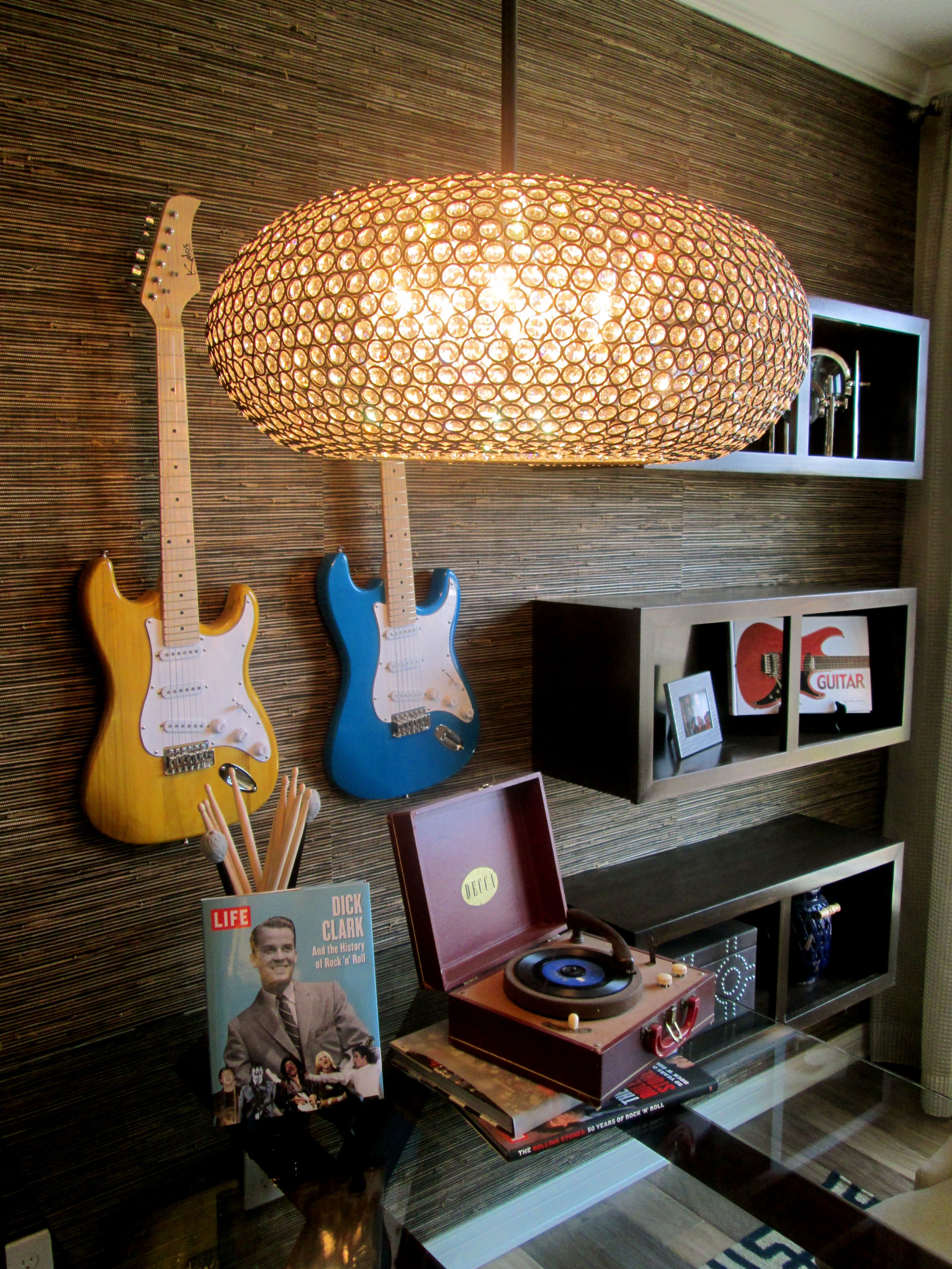 Guitar Decor For Bedroom Music Inspiration For The Home Surrounded By Sound