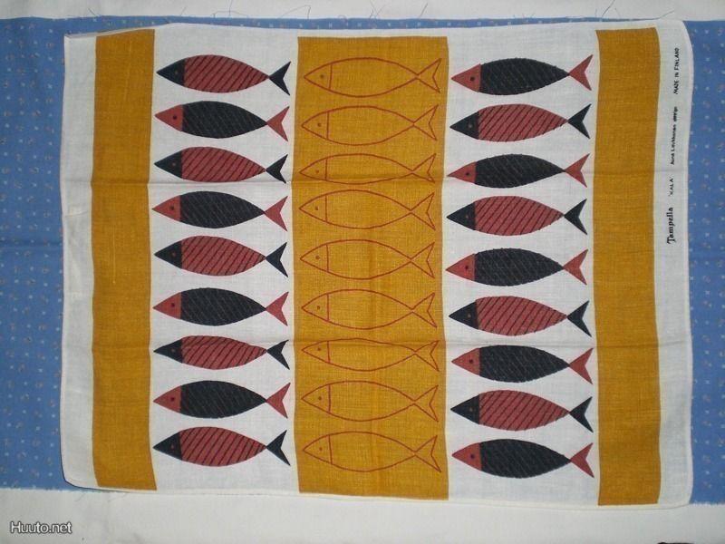 Tampella, dec KALA, design AUNE LAUKKANEN, vintage