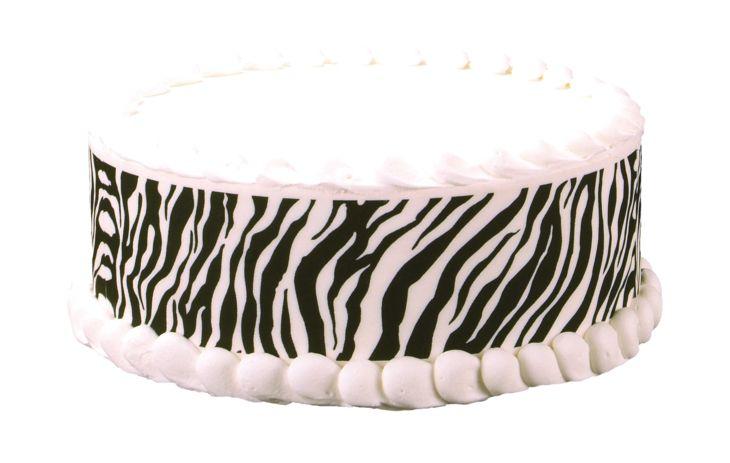 Buy locally zebra print cakes edible cake decorations