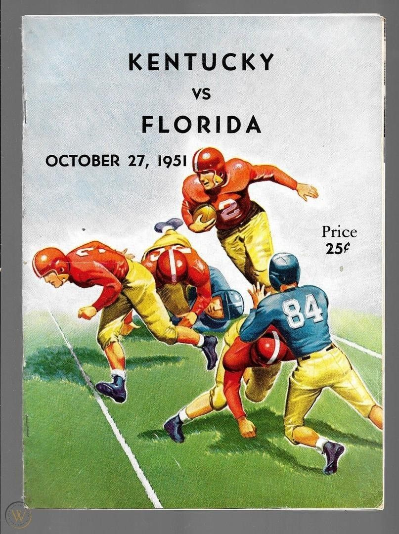 1951 Kentucky vs. Florida Football Program October 27
