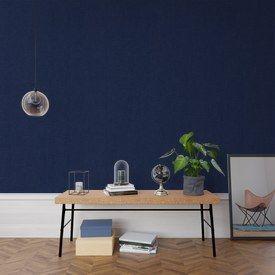 Papier Peint Intisse Moehau X Bleu Noir Coloris Bleu Nuit Bleu